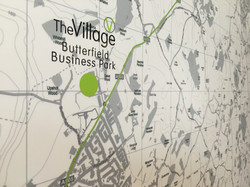 5ft x 4ft Office wall Bespoke Map