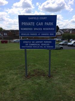 Garfield Court Parking signs