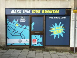 Luton BIDS window graphics