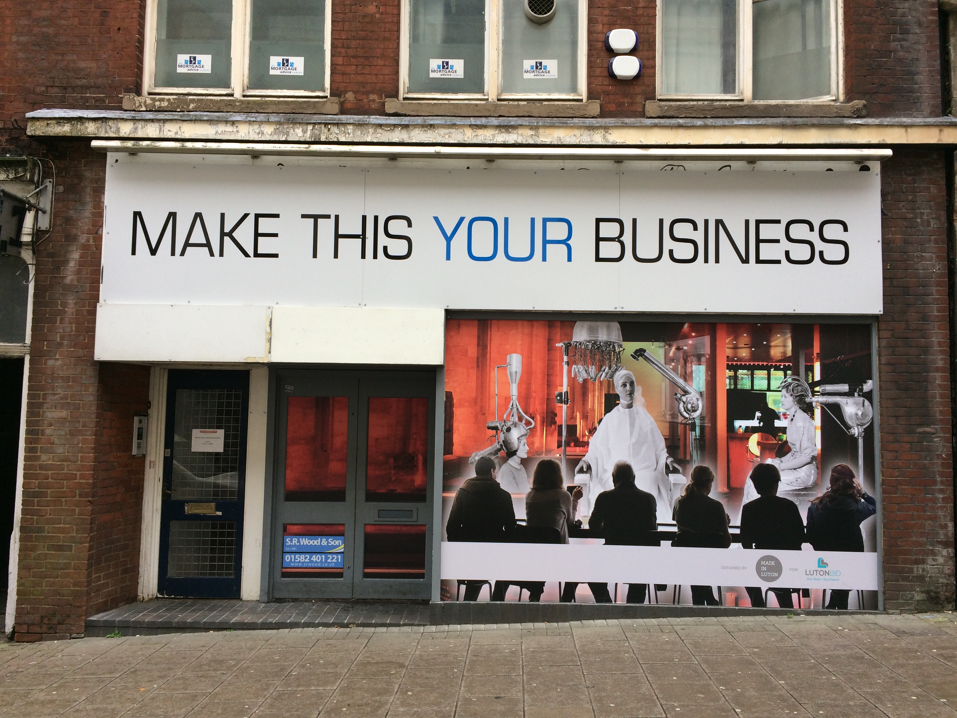 Luton BIDS window graphics