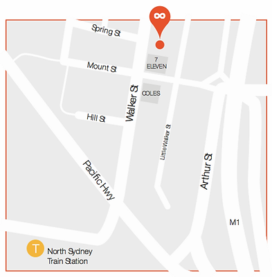 infinite health north sydney map.webp