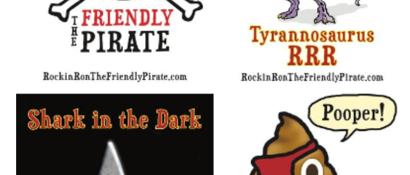 The Friendly Pirate Sticker Pack