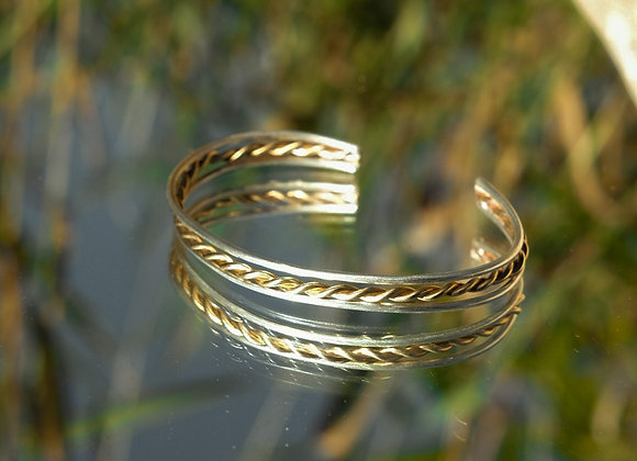 Mixed Metal Twist Bracelet