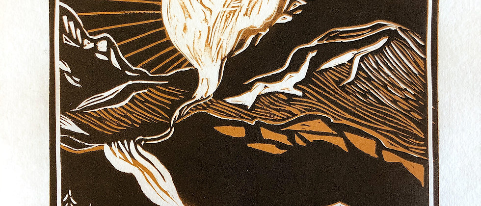 Linoleum Print Landscape