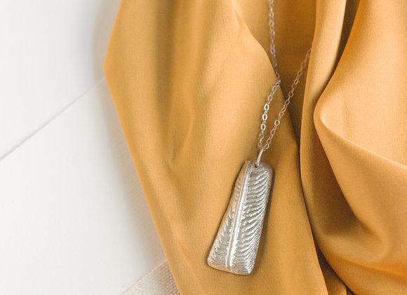 Cuttlebone: Rectangle Necklace