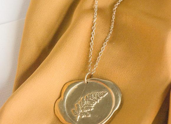 Wax Seal Fern Necklace