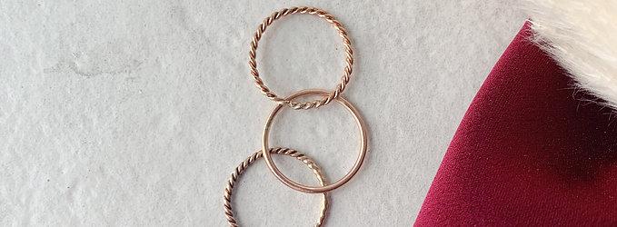Stack Em Up Rose Gold Ring Set