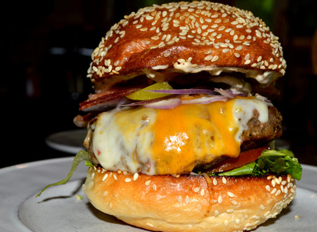 The Ultimate Triple Smoke Burger, with Pickled Chipotle-aioli.