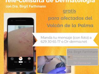 Tele-Dermatología gratis para afectados del Volcán de La Palma