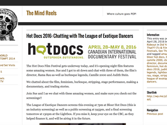 Hot Docs 2016: Chatting with The League of Exotique Dancers - The Mind Reels