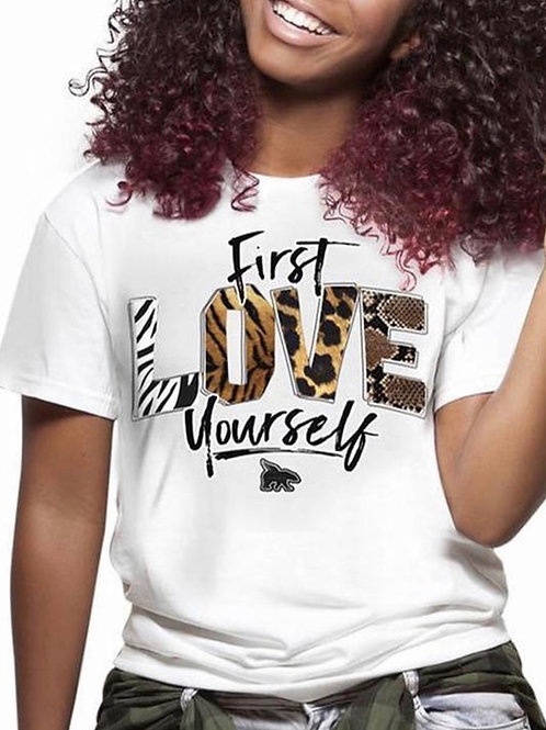"""FIRST LOVE YOURSELF"" Tee"