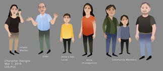 Parents Legal Centre Video - Character Designs