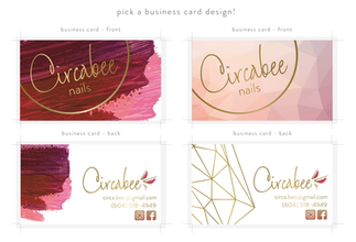 Circabee Business Card Designs
