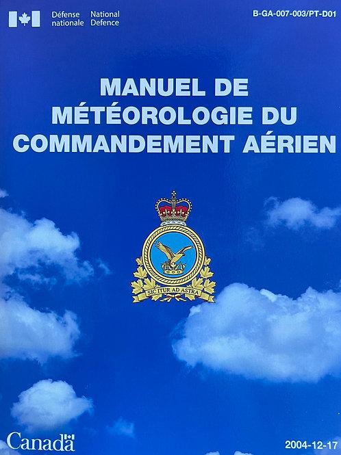 Manuel de météorologie du commandement aérien