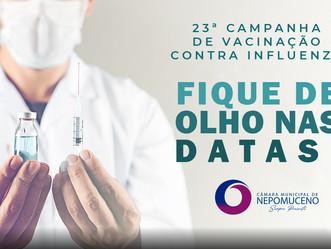 Começa a campanha Nacional de Vacinação contra a influenza em todo o país.