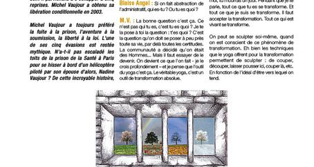 LIRE : LE YOGA EN PRISON - paru dans le journal de l'Institut Français du Yoga