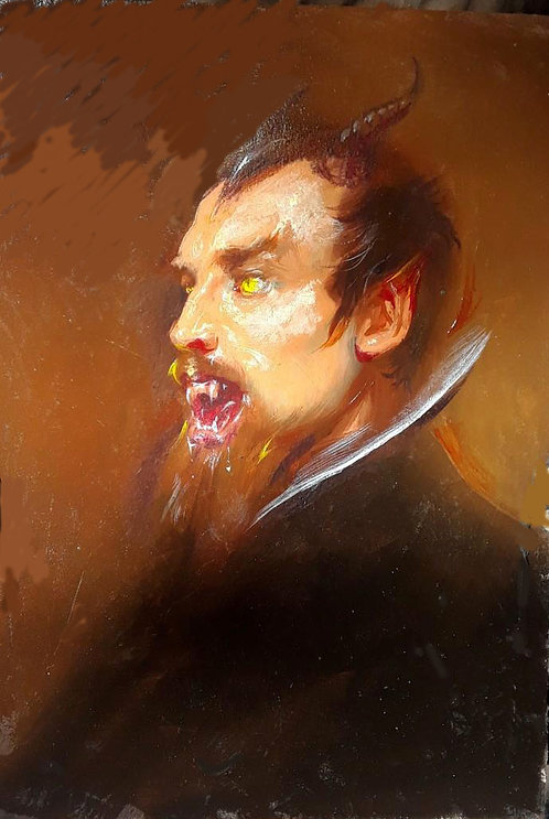 Richard Bober: Bearded Demon Portrait Study