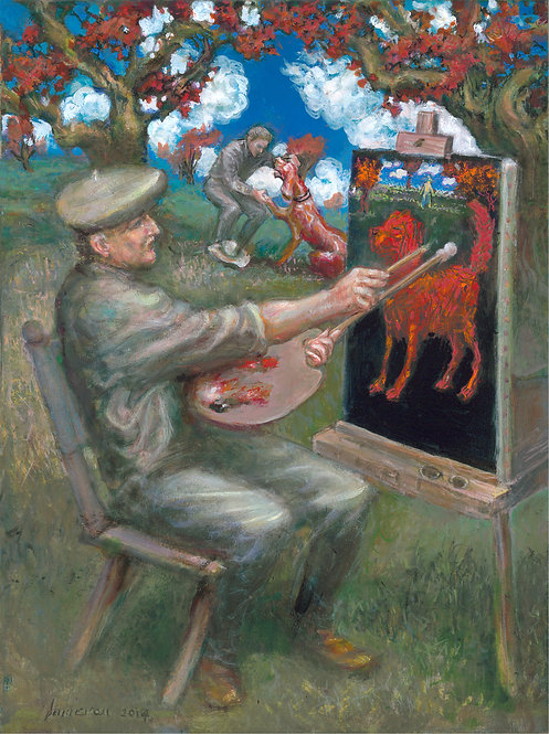 Ned Dameron: The Stand:The Painter and his Dog