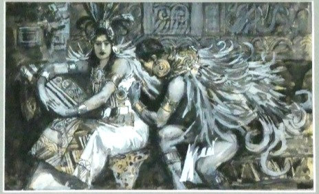 Maurice Greiffenhagen: Montezuma's Daughter #1