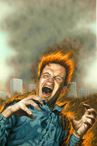 Terry Oakes: FIRE!