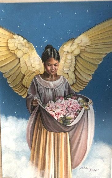 "Carol Heyer: Doreen Virtue Card ""Spring Angel"""