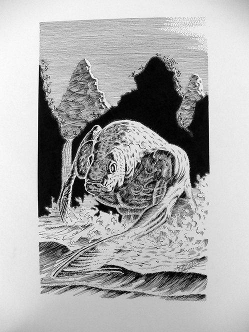 """Terry Oakes: Crimson Tide """"Frog Monster"""""""
