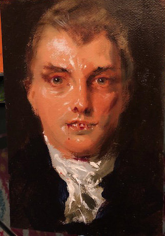 Richard Bober: Gentleman Vampire in White Tie Portrait Study