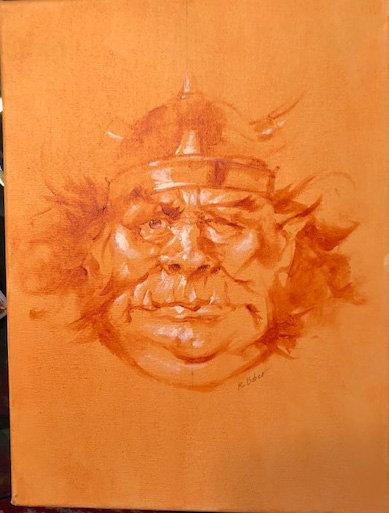 Richard Bober: Troll Warrior Portrait Study