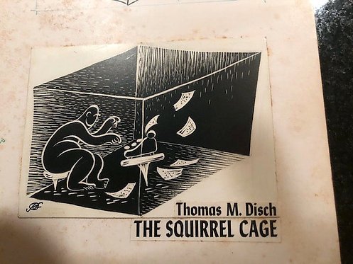 Kelly Freas: New Worlds of Fantasy: The Squirrel Cage