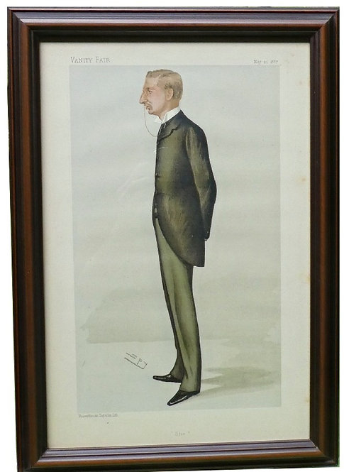 """Leslie Ward """"Spy"""": H. Rider Haggard """"Men of the Day"""" Caricature"""