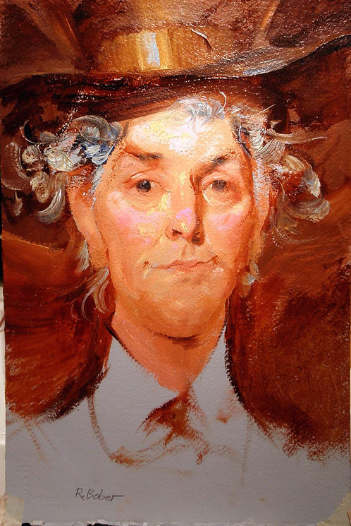 Richard Bober: Mad Hatter Oil Portrait Study