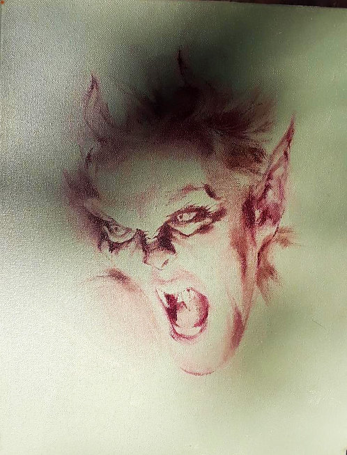 Richard Bober: Wild Demon Vampire Portrait Study