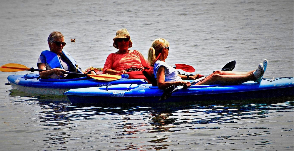 A time for relaxing, a time for getting together with friends, for bobbing around on the lake in our kayaks and sharing ideas, fun facts and silliness.  Enjoy it everyone!