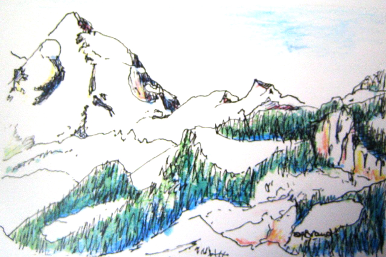 mountain sketch BC.