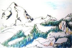 mountain sketch BC.