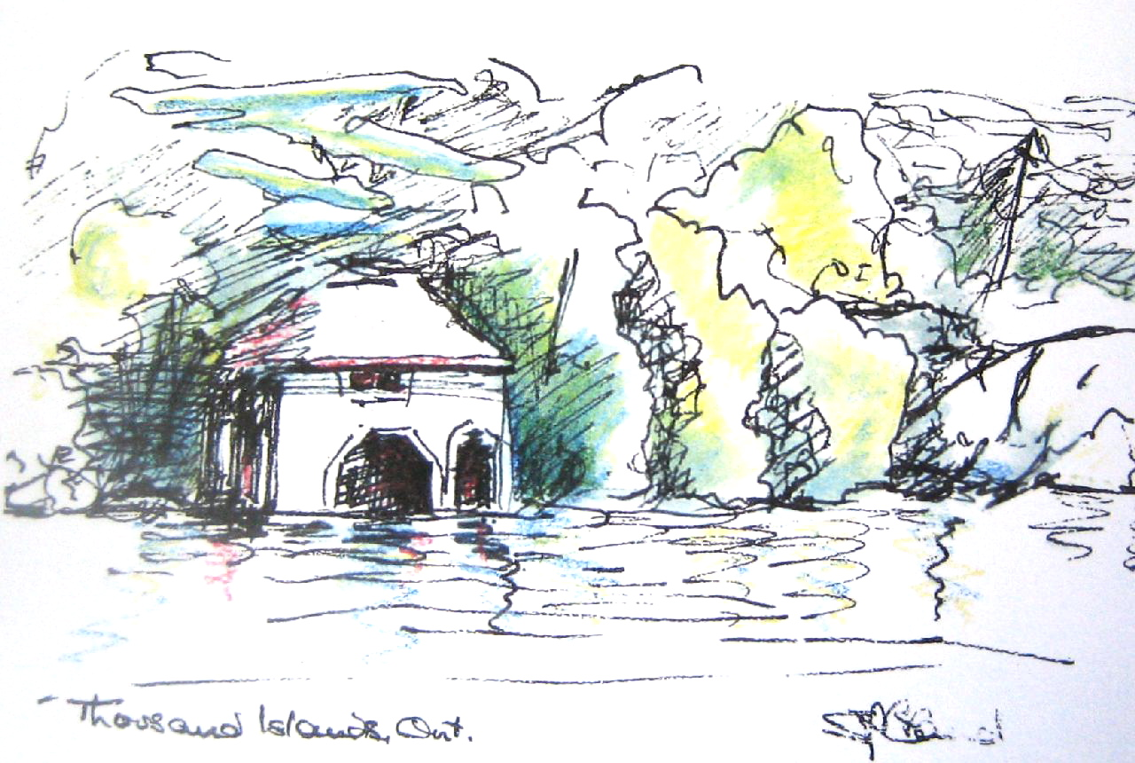 Thousand Islands sketch