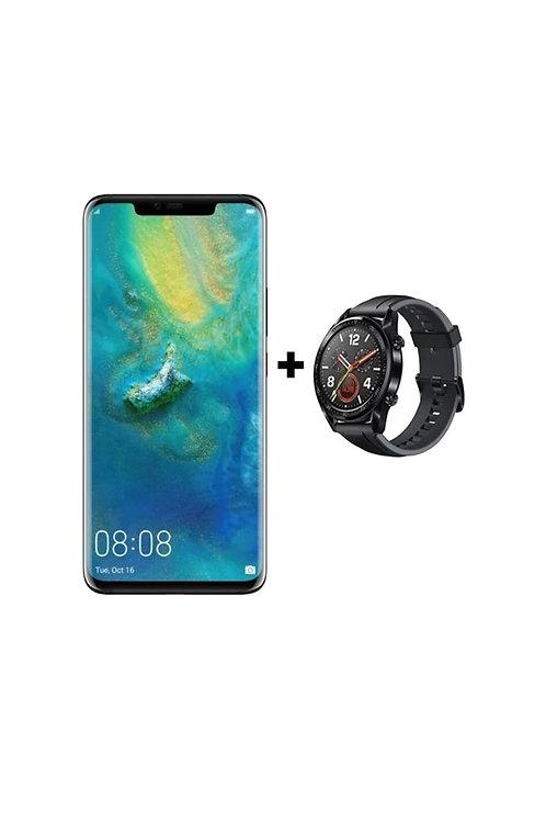 Huawei Mate 20 Pro Double sim 128Go 6Go Ram 4G LTE avec Huawei Smartwatch