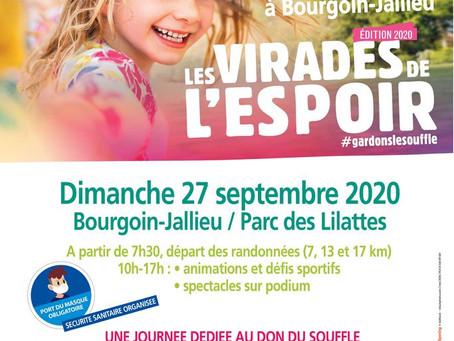 Participez à la Virade de l'espoir de Bourgoin-Jallieu 2020
