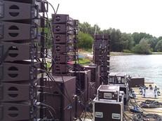 sonorisation audio line array feu juill1