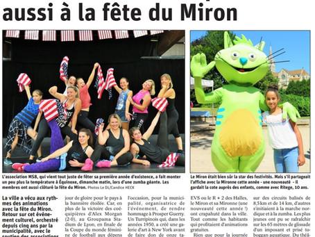 Belle réussite pour La 5e Fête du MIRON à la Tour du Pin avec MB PROD !