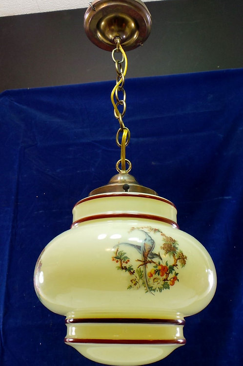 Pendant Light Fixture With Revival-style Pheasant Shade