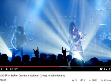 Evil Invaders - Nieuwe live video voor 'Broken Dream In Isolation'.