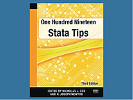 One-hundred-nineteen Stata Tips