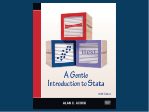 A Gentle Introduction to Stata