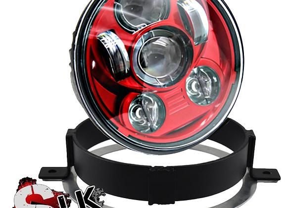 Honda VTX RED LED Daymaker Headlight Kit with Bracket