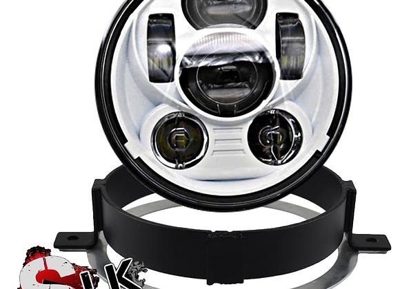 Honda VTX WHITE LED Daymaker Headlight Kit with Bracket