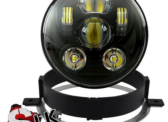 Honda VTX LED Black Daymaker Headlight Kit with Bracket