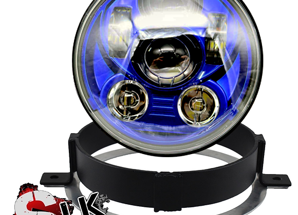 Honda VTX BLUE LED Daymaker Headlight Kit with Bracket