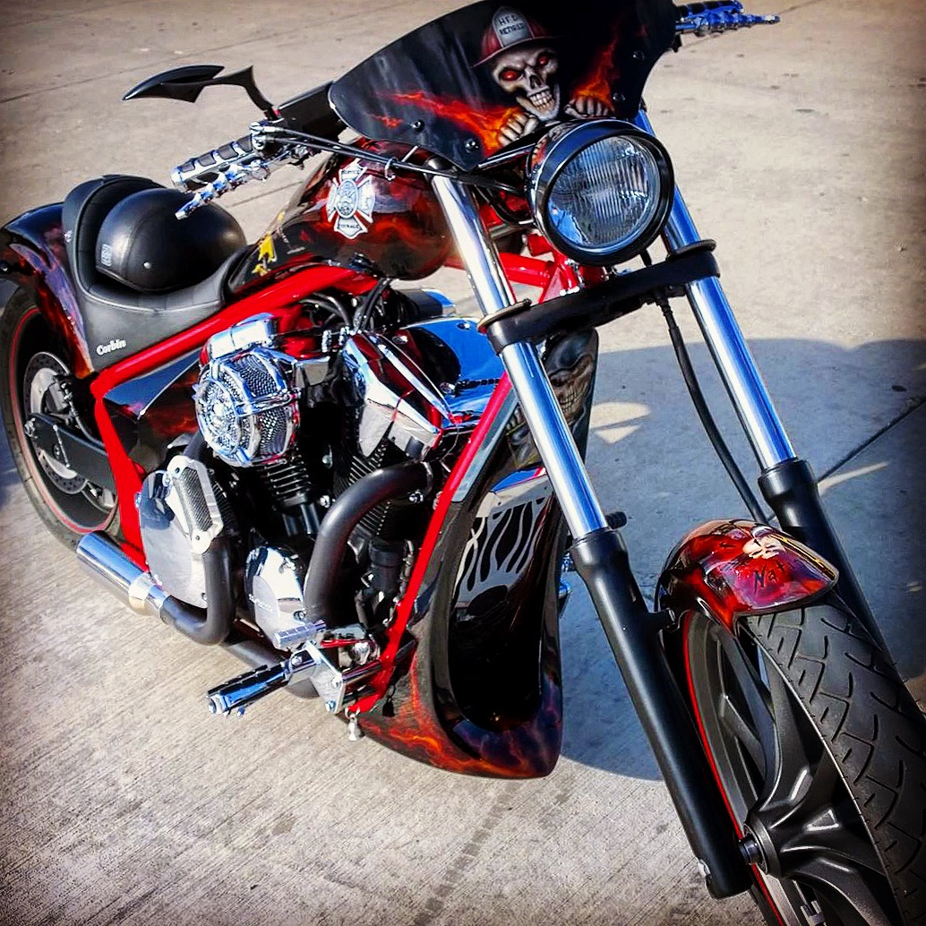 Custom Honda Fury Exhaust