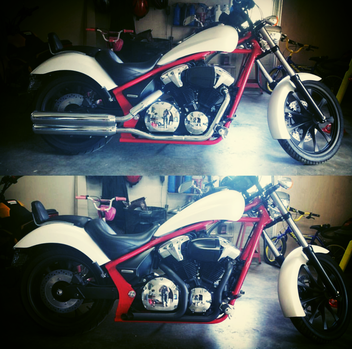 Honda Fury Custom Exhaust